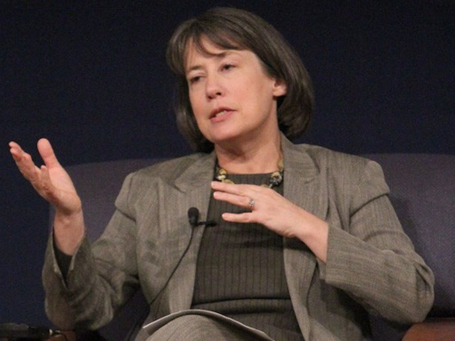 Chairman of the Federal Deposit Insurance Corporation Sheila Bair discussed Tuesday the various failures that led to the financial crisis.