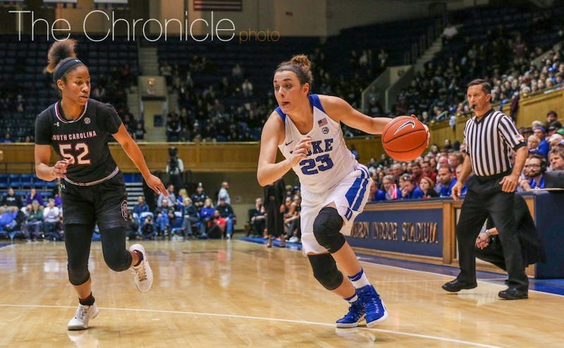 Rebecca Greenwell had the best game of her career against a top-10 opponent, with 29 points on 9-of-15 shooting, including 4-of-7 from 3-point range.