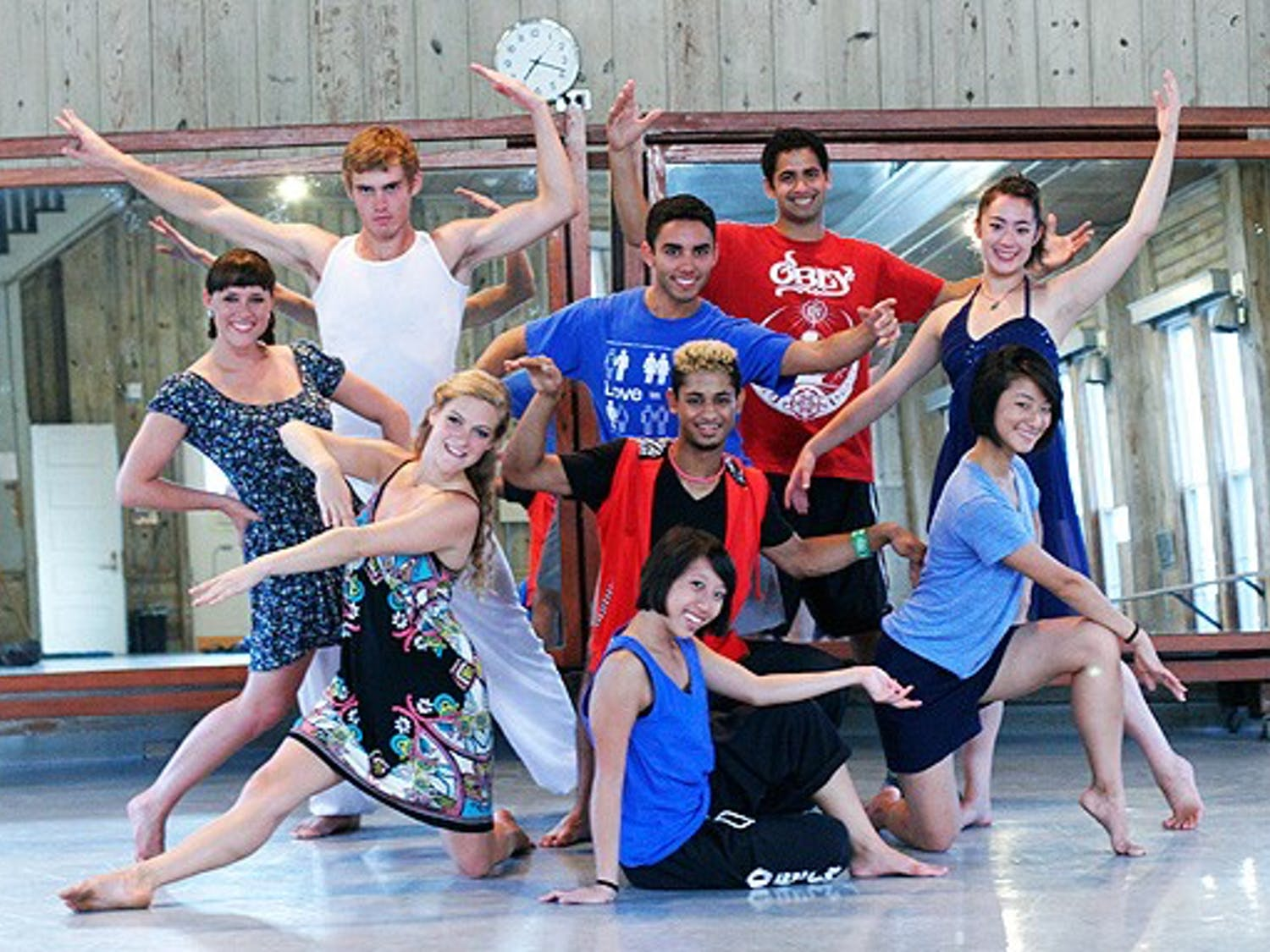 Dancers who performed in China at the opening ceremony of the 2011 Universiade Games had only two weeks to learn the choreography.