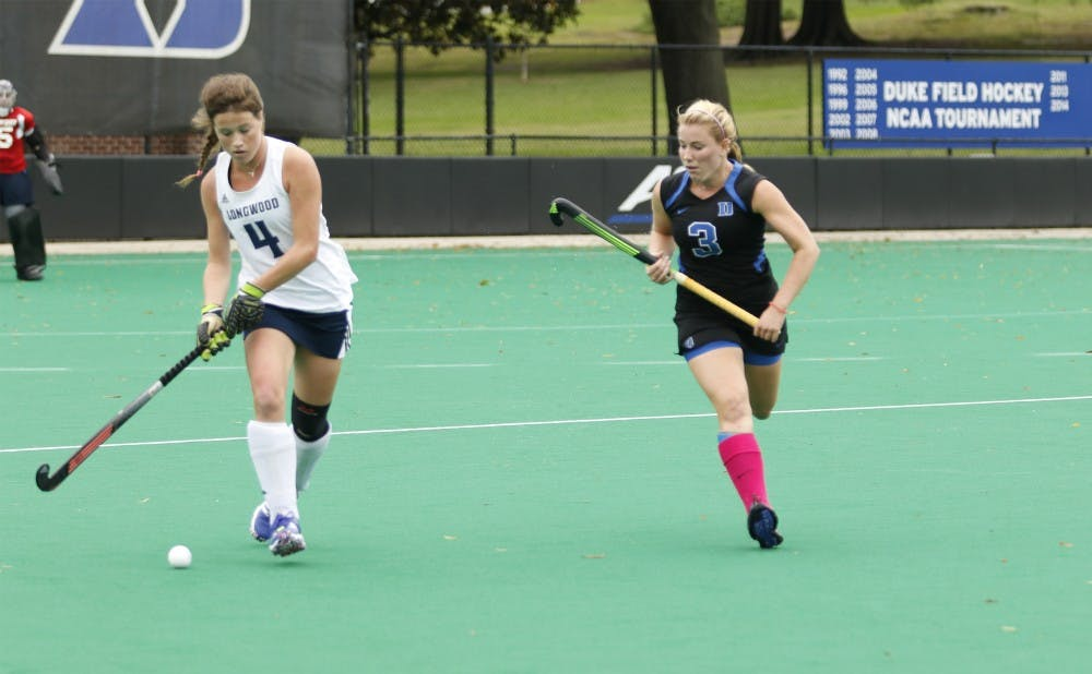 <p>Junior Heather Morris and the Blue Devils will look to deal Syracuse its first loss of the season Saturday in their final regular-season ACC contest.</p>