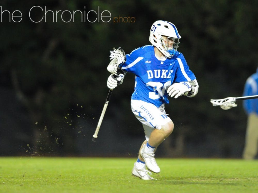 Senior captain Joey Manown spearheaded Duke's involvement in the Lacrosse for Life fundraiser.