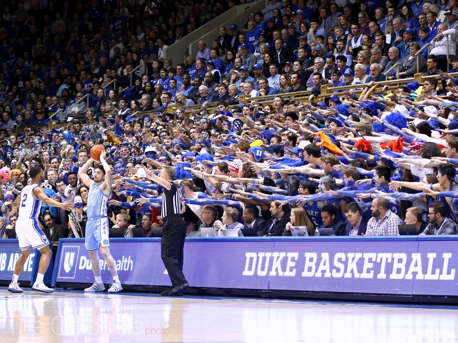 "Our Derek Saul and Conner McLeod had the honor of covering last year's Duke vs. North Carolina game at Cameron Indoor Stadium, the final memory many have of Duke during ""normal"" times."