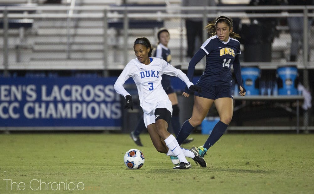 <p>Imani Dorsey scored Duke's only goal from just outside the box into the right side of the net.</p>