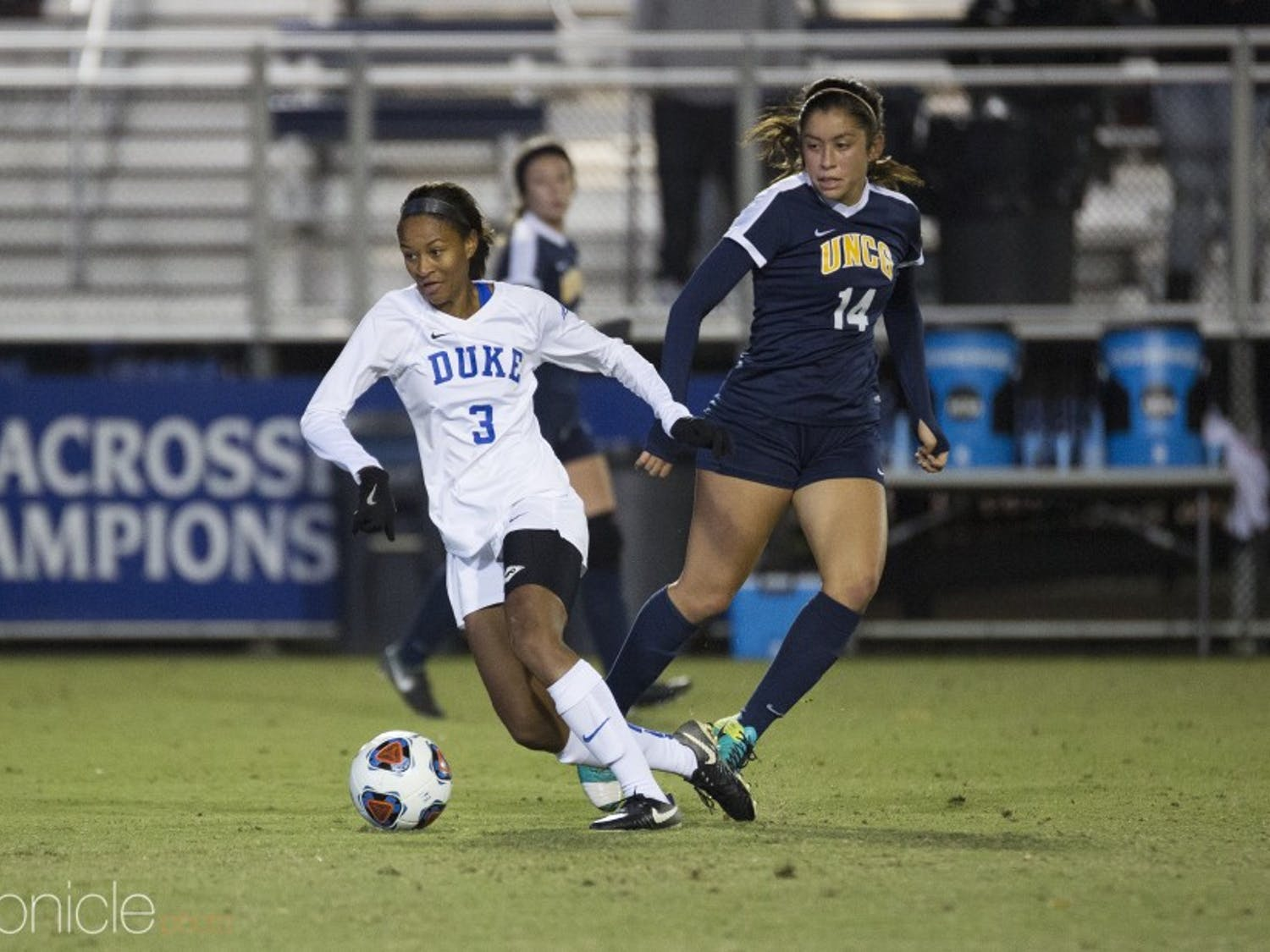 Imani Dorsey scored Duke's only goal from just outside the box into the right side of the net.