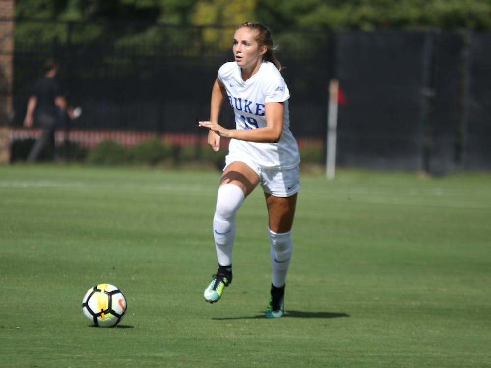 Senior Schuyler DeBree's first career goal came on a free kick from close to midfield on the same field where she tore her ACL two years ago.