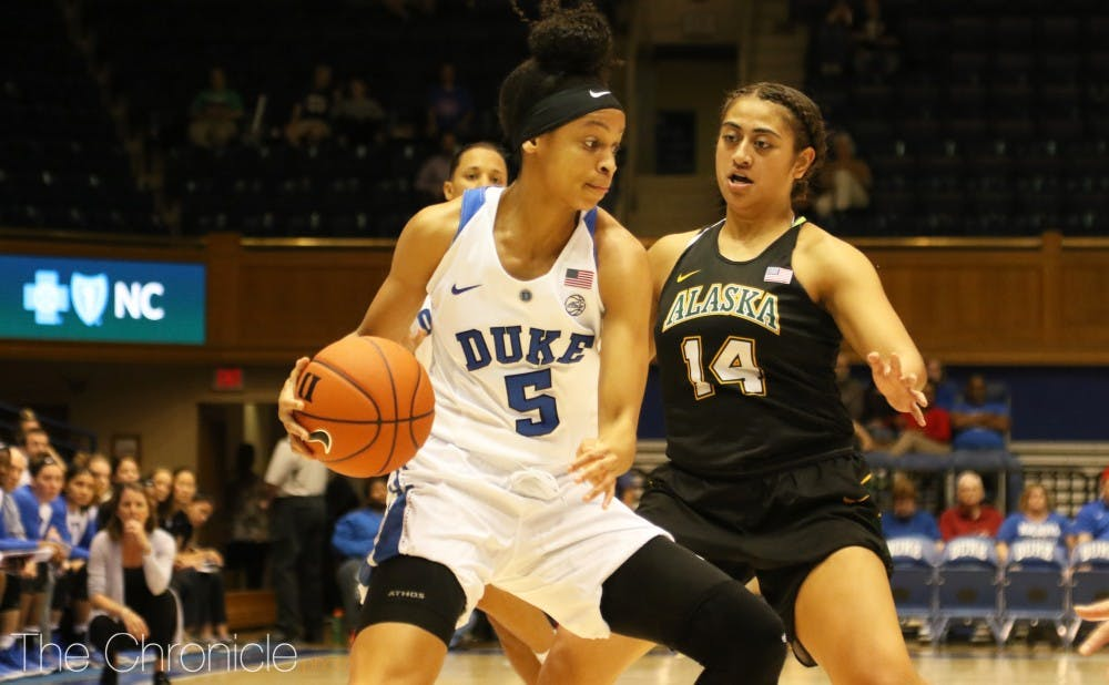 <p>Leaonna Odom had 16 points and five rebounds Thursday.</p>