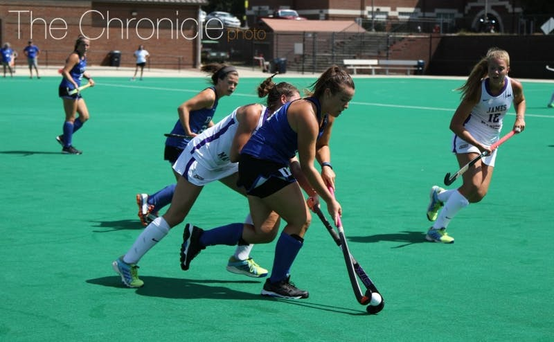 Rose Tynan's two goals Sunday helped spark Duke's dominant offense.