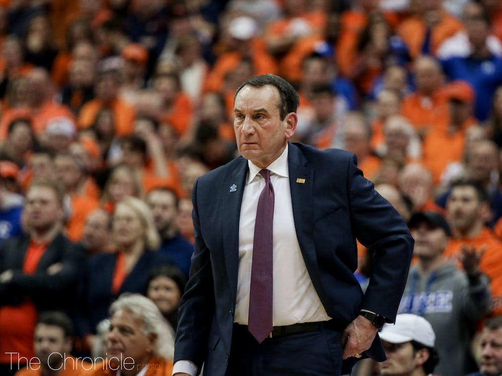 Duke hasn't been ranked outside the top-10 of the AP poll since Feb. 18, 2018