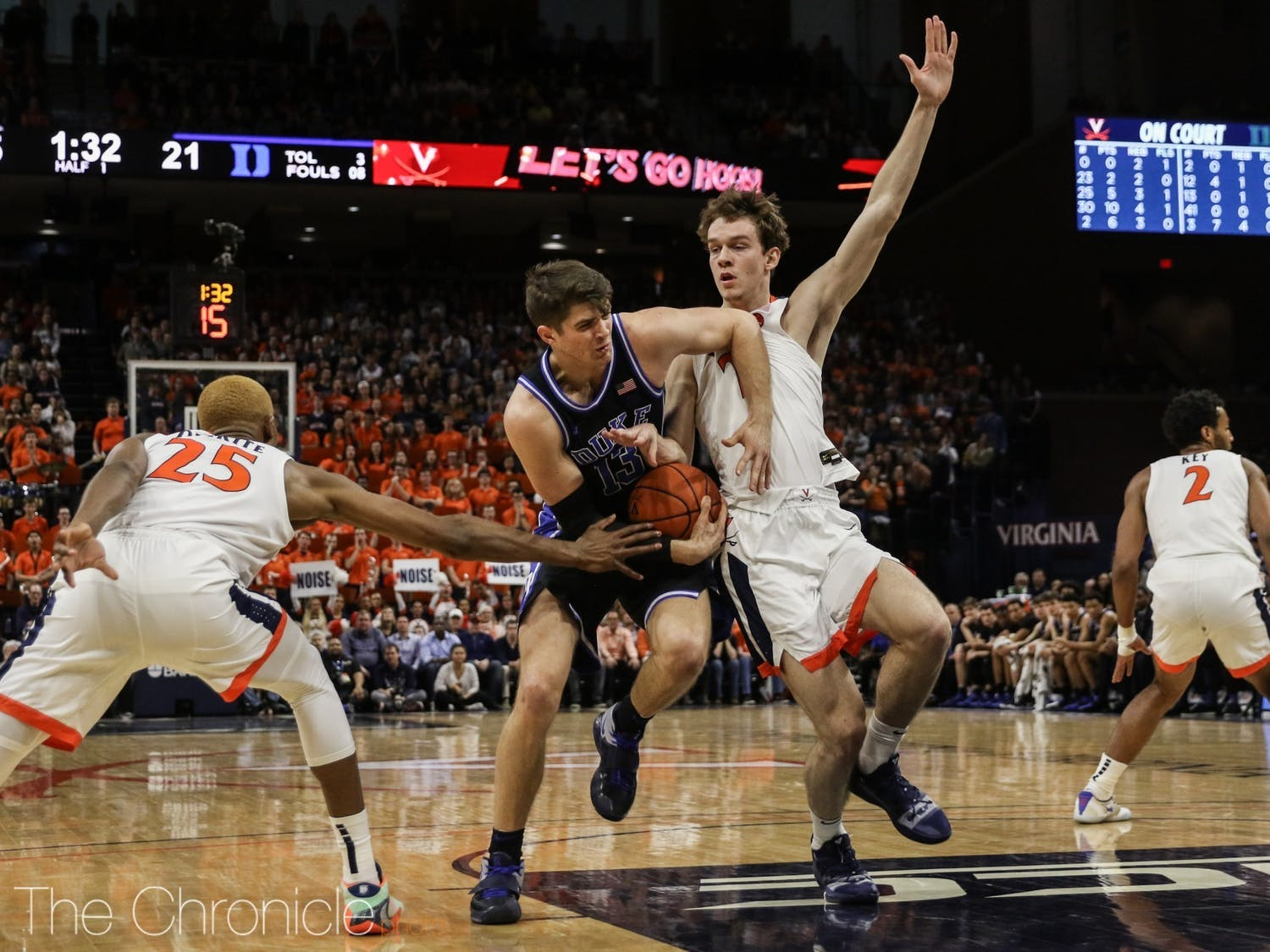 When Duke plays Virginia, the stakes are typically high. Three of the past four meetings have resulted in the winning team only escaping with a two-point lead.