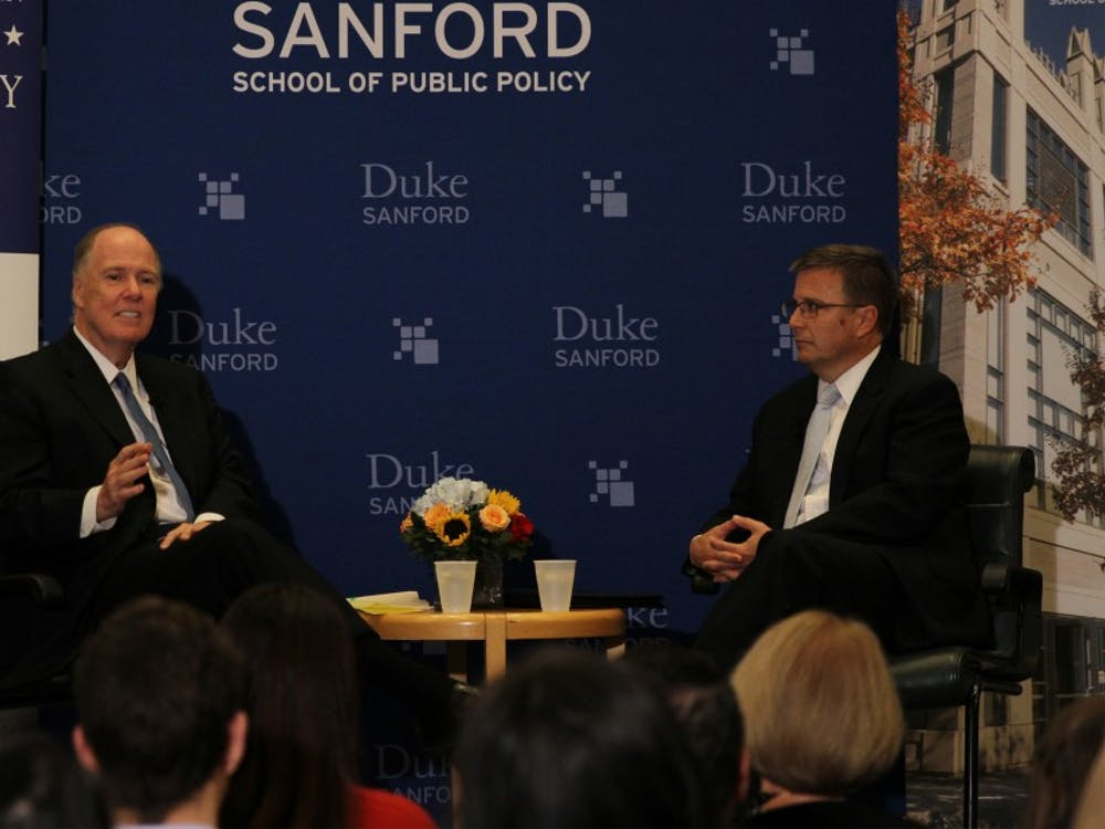 Tom Donilon served as President Barack Obama's national security advisor from 2010 until 2013 and addressed the country's most pressing foreign policy issues in a talk at Duke Thursday evening.