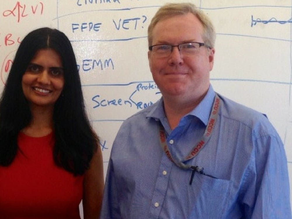 Duke's Gayathri Devi (left) and NCCU'sKevin Williams (right) will co-lead an investigation of arare form of breast cancer.