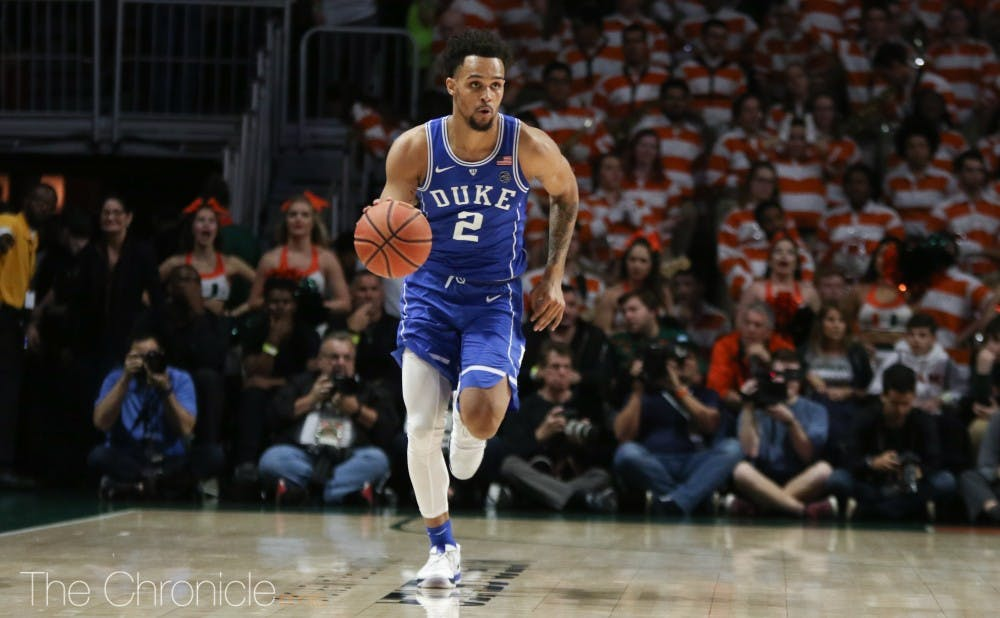 Gary Trent Jr. scored a career-high 30 points and sparked Duke's 18-0 run with back-to-back 3-pointers.