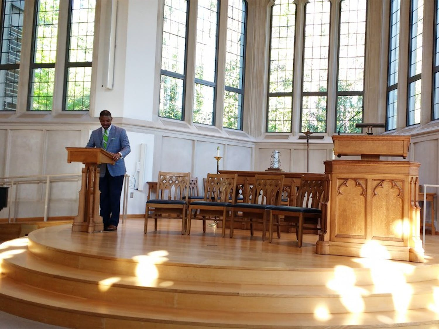 The keynote speaker of this weekend's conferencewas the Rev. Starsky Wilson, who said that the current legal system is not just.