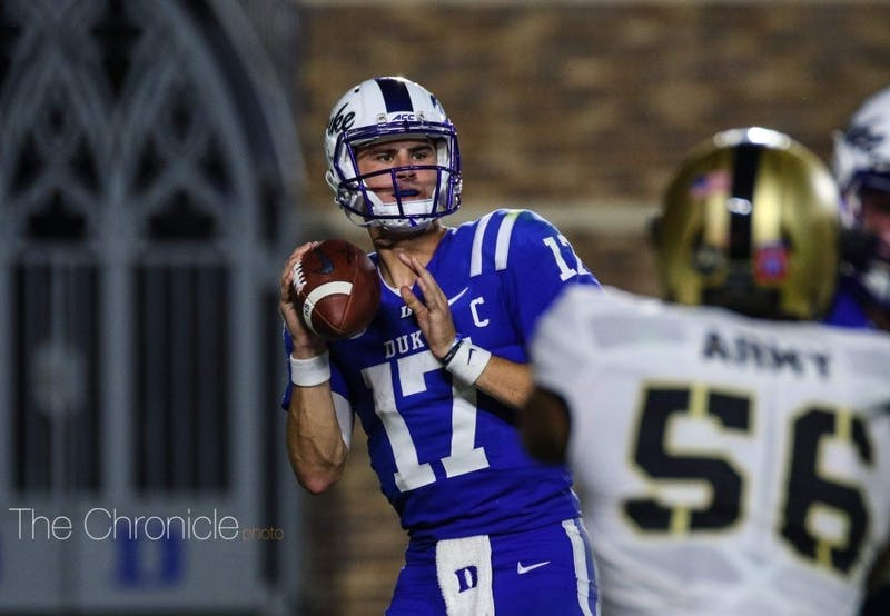 Daniel Jones threw three touchdown passes in an effective first half.