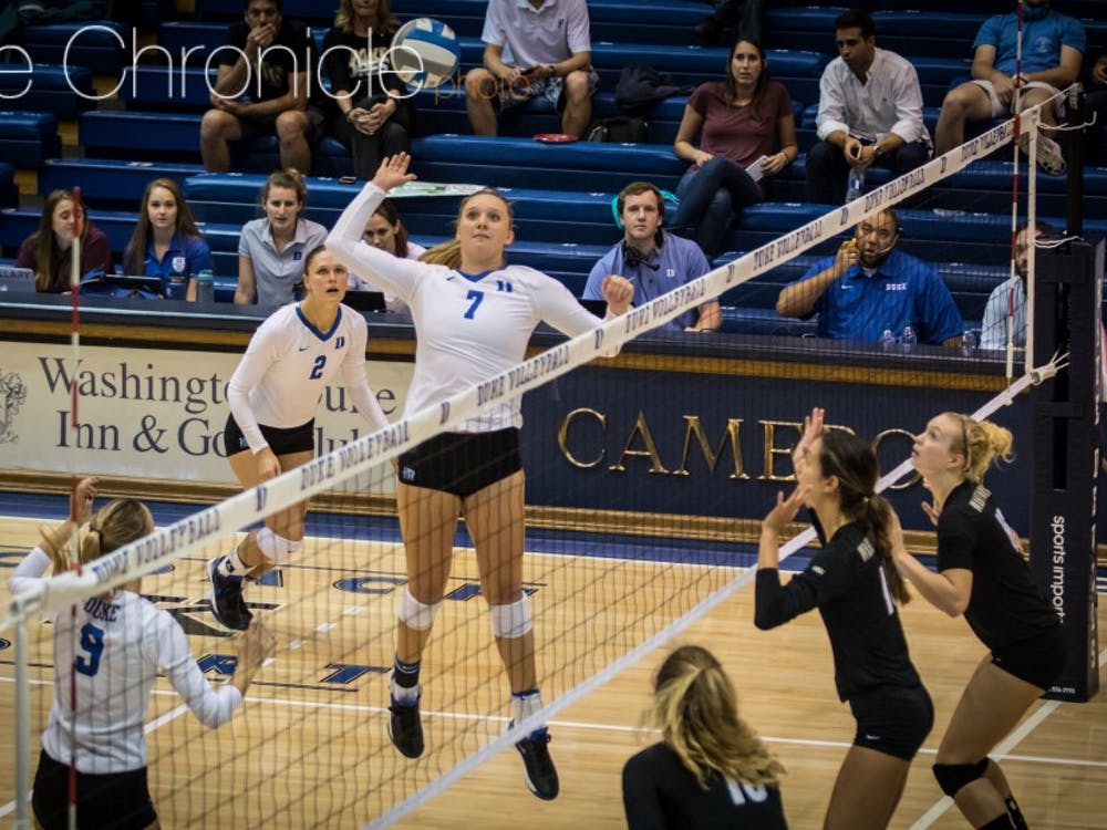 Leah Meyer posted a career high in kills Sunday as Duke won its second straight game.