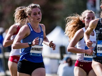 Senior Michaela Reinhart led the Blue Devils with a fourth-place finish at the ACC Championships.