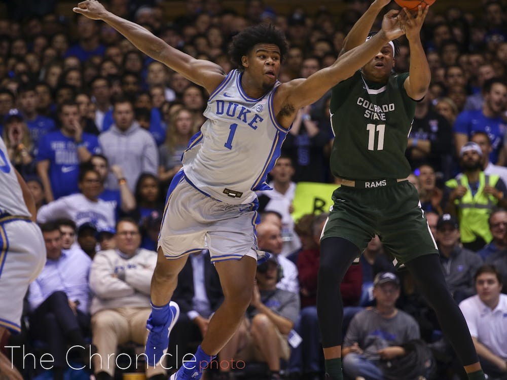 The Blue Devils hounded Colorado State for 40 consecutive minutes.