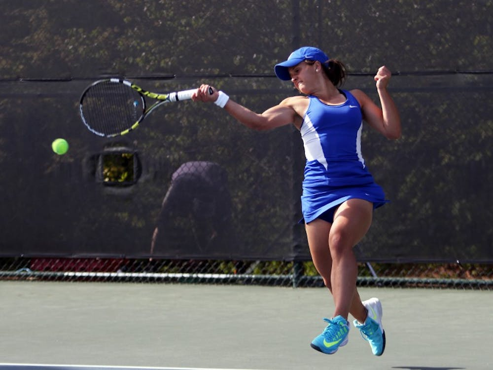 Samantha Harris and the Blue Devils closed out their fall season this weekend in Durham.