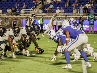 The Blue Devils have totaled just one sack through their first two games.