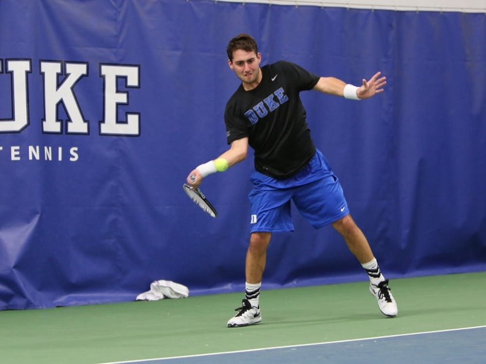 Josh Levine earned a victory in his first match in more than a month, but the Blue Devil comeback effort fell just short Sunday at Florida State.