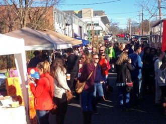 Past food truck rodeos have brought crowds in cold weather and warm. Sunday's food truck rodeo was sunny and popular.