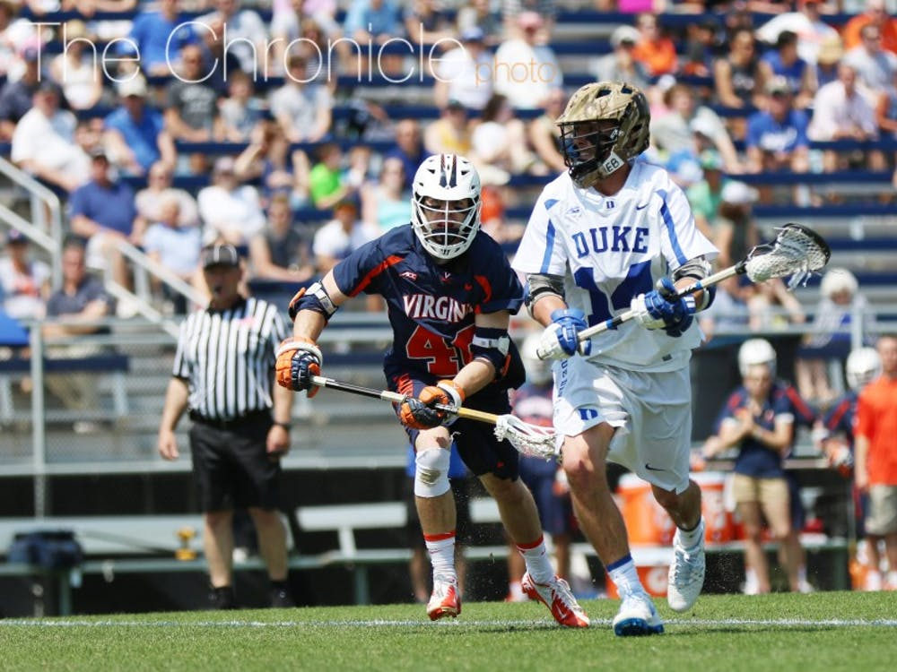 Justin Guterding had a hat trick last weekend against Marquette and is tied for the team lead with 40 goals this season.