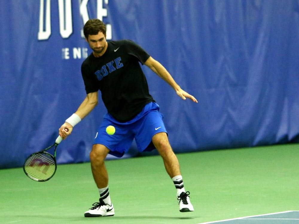 Sophomore Catalin Mateas was one of two Blue Devils to reach the Round of 16 in this week's singles competition.