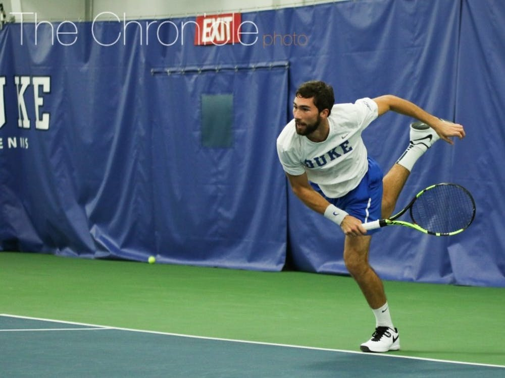Sophomore Catalin Mateas posted one of the biggest singles wins of his career in the Blue Devils' loss.