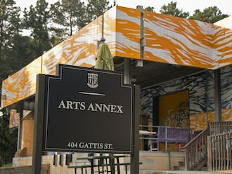 The Arts Annex sits on top of a hill between East and West Campus and offers students a place to explore their artistic side.