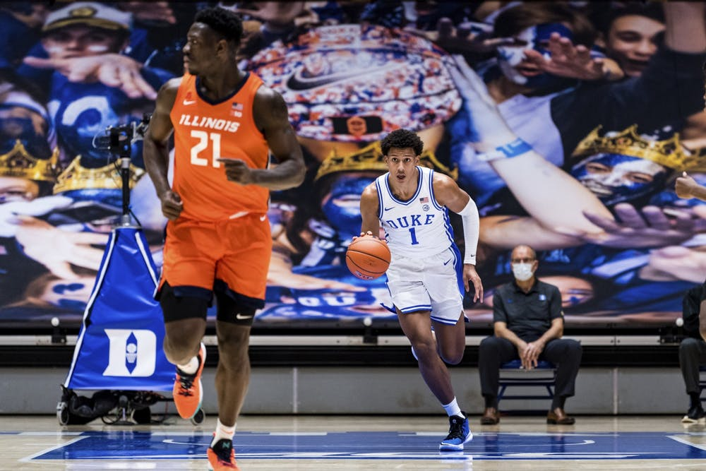 <p>After a dominant season-opening performance against Coppin State, freshman Jalen Johnson struggled once again against Illinois.</p>