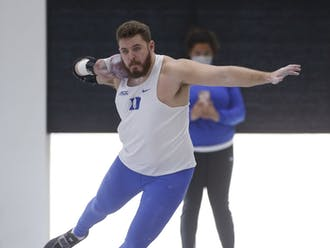 Redshirt senior Ben Beatty set the school record in the men's shot put at the VT Elite Meet earlier this month.