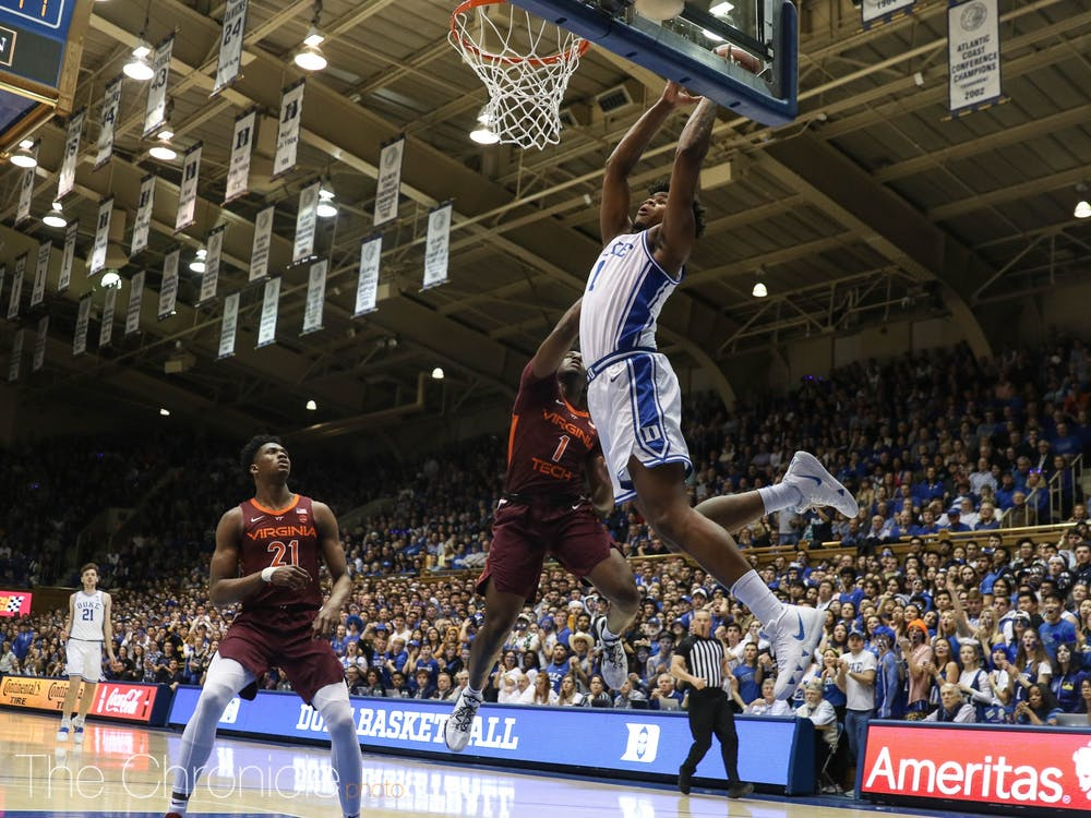Duke bounced back in major fashion Saturday night.