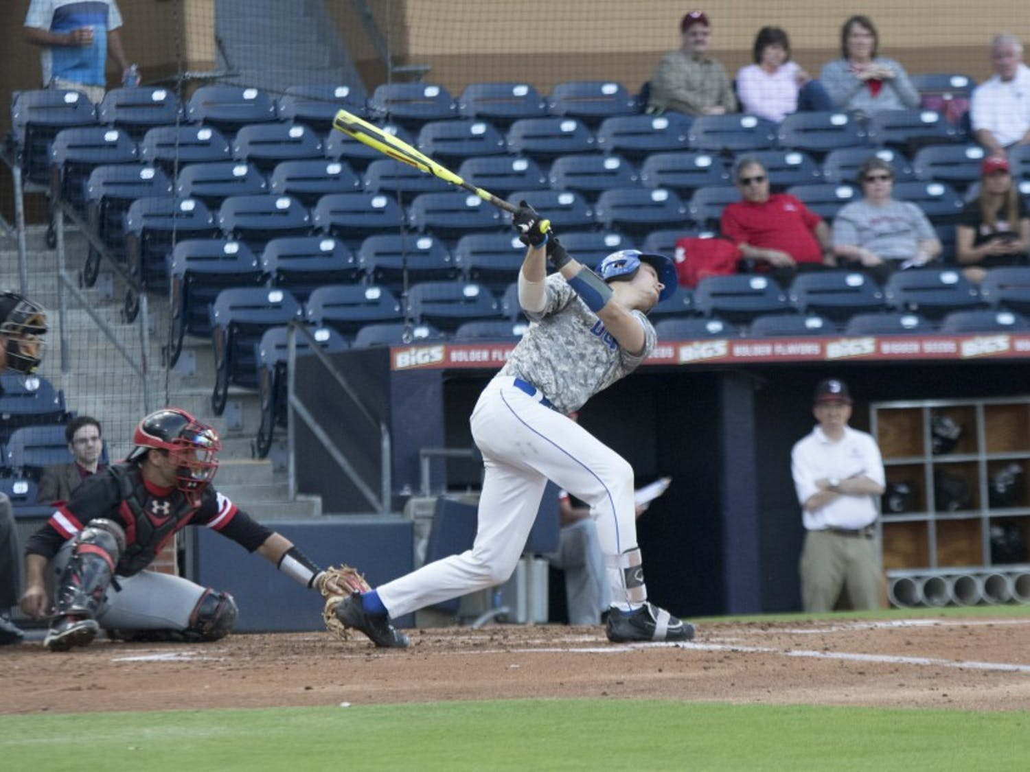 Catcher Chris Proctor was one of five Blue Devils to register multiple hits in the team's Wednesday night win at Campbell, going 2-for-5 with a run scored.