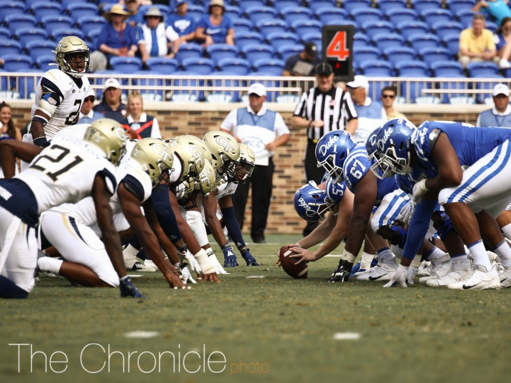 Duke Football played Georgia Tech at Duke Wallace Wade Stadium in Durham, North Carolina. Final score was 23-41, with Duke winning the game.