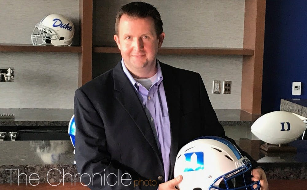 <p>David Shumate will take over behind the microphone for Bob Harris, who has been the voice of the Blue Devils for the last 41 years.</p>