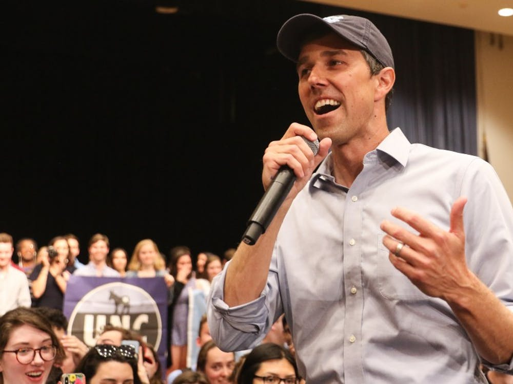 Presidential candidate Beto O'Rourke came to the Triangle on April 15 to speak at a rally at the University of North Carolina.