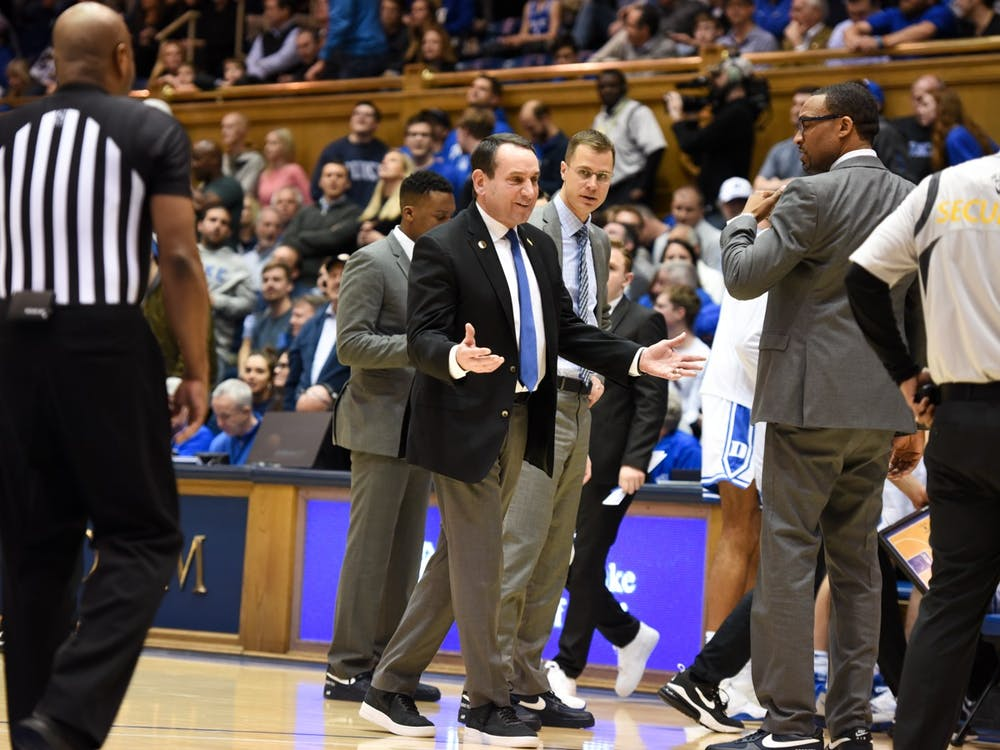 Despite the casual look from Mike Krzyzewski and the Duke coaching staff, the Blue Devils were all business Tuesday night.