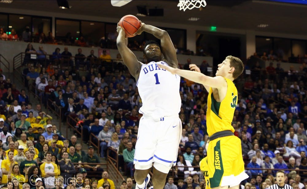 <p>Zion Williamson has been key offensively all season.</p>