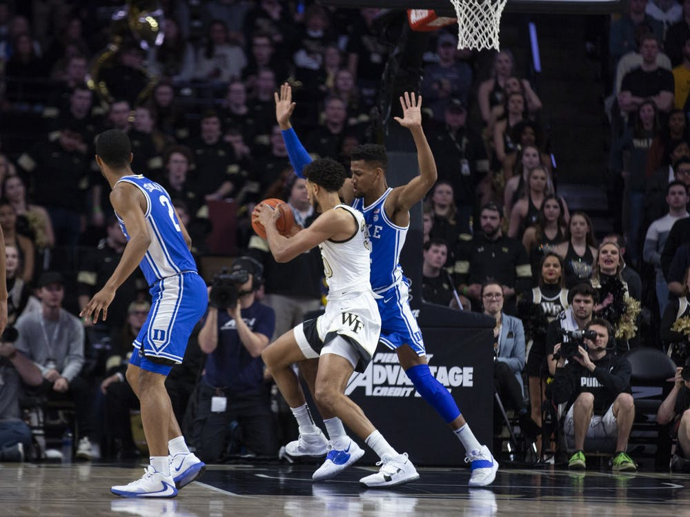 <p>Senior forward Javin DeLaurier fouled out after only five minutes of playing time.</p>