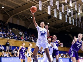 Jade Williams and Duke's bigs will be tested Sunday.