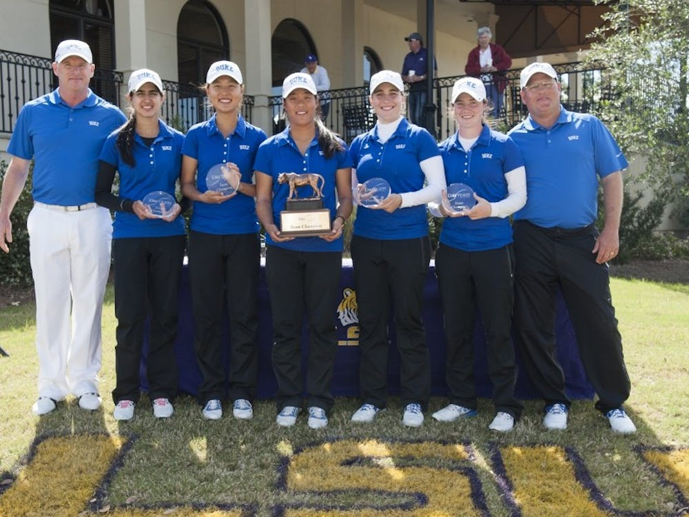 The Blue Devils won at the LSU Tiger Golf Classic in March and will return to the University Club course this week for NCAA regionals.