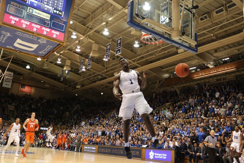 Zion Williamson had another efficient half for Duke Tuesday.