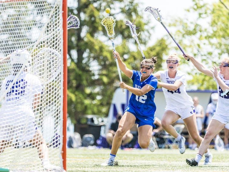 Sophomore Olivia Carner scored a career-high five goals against Northwestern.