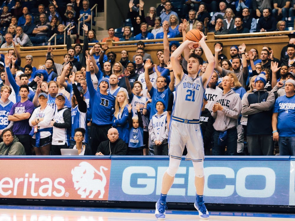Matthew Hurt drained a pair of triples in the opening half.