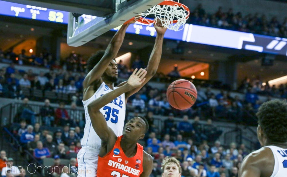 <p>Marvin Bagley III commanded the second half inside and finished with 22 points.</p>