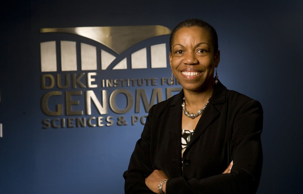 <p>Charmaine Royal, associate professor of African and African American studies, biology and community and family medicine, will lead the new center.</p>