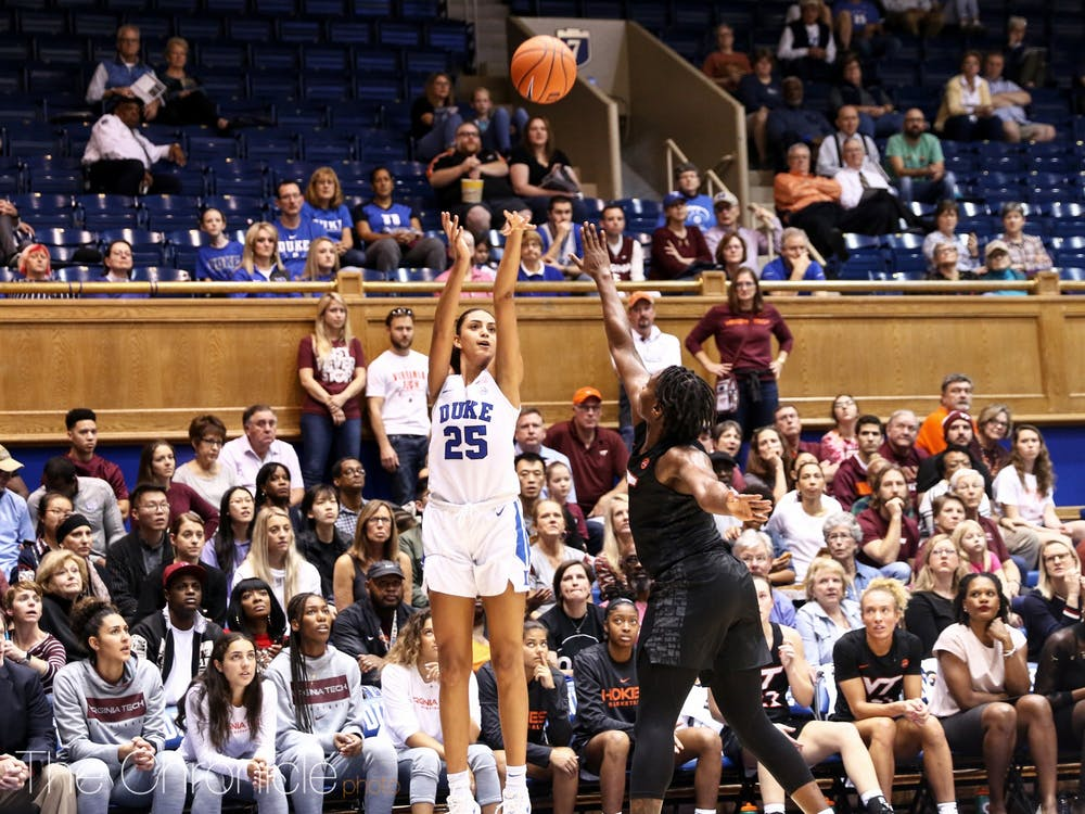 <p>Jade Williams' seven rebounds and two blocks were crucial in Duke's win.</p>