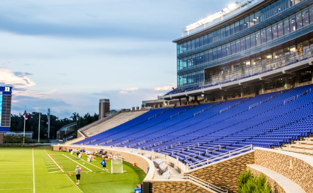 <p>The newly-renovated Wallace Wade Stadium now features a new student section located at field level and the Blue Devil Tower, which includes suites and a new media area.&nbsp;</p>
