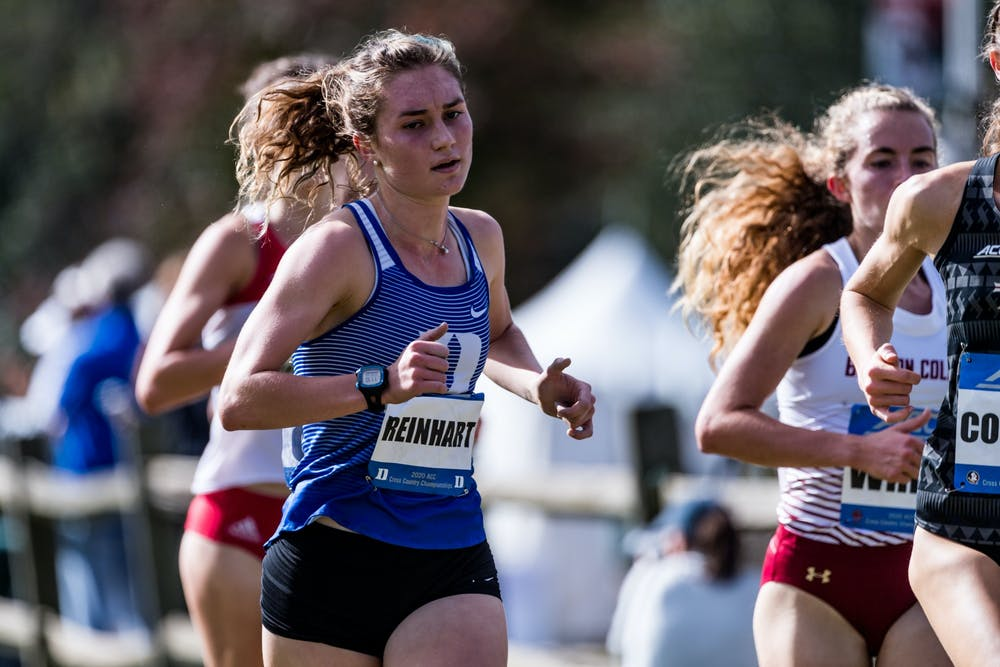 Michaela Reinhart paced the women's cross country team all of last season.