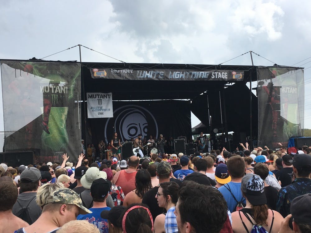 Post-hardcore band Senses Fail plays Monster Energy's White Lightning Stage July 3 as a part of the final Vans Warped Tour.